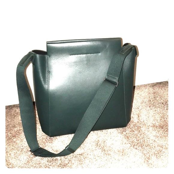 a6ddfb669 Everlane Handbags - Everlane Form Bag dark green